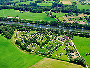 Nederland, Gelderland, Gemeente Lochem, 21–06-2020; camping Het Walhoorn, kampeerpark, gelegen aan het Twentekanaal.<br /> Camping Het Waldhoorn, camping park., located on the Twente Canal.<br /> <br /> luchtfoto (toeslag op standaard tarieven);<br /> aerial photo (additional fee required)<br /> copyright © 2020 foto/photo Siebe Swart