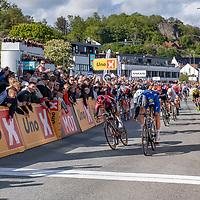 Fra målgang under Tour of Norway sykkelritt etappe 2: Kvinesdal - Mandal.
