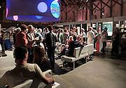Nederland, Amsterdam, 1-9-2012 Manuscripta op het terrein van de Westergasfabriek. Boekenmarkt aan het begin van het nieuwe seizoen. Uitgevers tonen nieuwe titels.Foto: Flip Franssen/Hollandse Hoogte