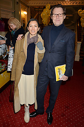 ROBERT ELMS and CHRISTINA WILSON at Beautiful - The Carole King Musical 1st Birthday celebration evening at The Aldwych Theatre, London on 23rd February 2016.