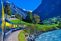 Between Zweilutschinen and Grindelwald, Swiss Alps, Canton Bern, Switzerland