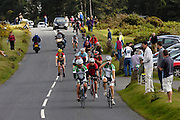 UK, September 15 2011: Riders climb towards the summit at Haytor before the Tour of Britain. Images from the fifth stage of the 2011 Tour of Britain. The stage started in Exeter and finished in Exmouth. Copyright 2011 Peter Horrell