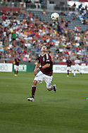 August 4, 2012: Colorado Rapids defender Drew Moor (3) goes after a ball in the first half against Real Salt Lake at Dick's Sporting Goods Park in Denver, Colorado
