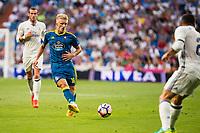 Celta de Vigo's player Daniel Wass during a match of La Liga Santander at Santiago Bernabeu Stadium in Madrid. August 27, Spain. 2016. (ALTERPHOTOS/BorjaB.Hojas)