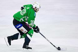 Ivo Jan of Olimpija at 38th Round of EBEL league  ice hockey match between HDD Tilia Olimpija Ljubljana and HK Acroni Jesenice, on January 1, 2010, in Arena Tivoli, Ljubljana, Slovenia. (Photo by Vid Ponikvar / Sportida)