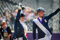 Gold medalists, Para Dressage, Voets Sanne, NED, Hosmar Frank, NED<br /> European Championship Dressage<br /> Rotterdam 2019<br /> © Hippo Foto - Dirk Caremans