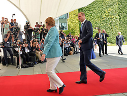 July 19, 2017 - Berlin, Deutschland - Angela Merkel, Prince William.Chancellor Angela Merkel welcomes Prince William and Catherine Duchess of Cambridge in the Federal Chancellery, Berlin, Germany - 19 Jul 2017.Credit: MichaelTimm/face to face (Credit Image: © face to face via ZUMA Press)