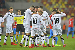 December 7, 2017 - Bucharest, Romania - Energy Investment Lugano's players celebrates after Fabio Daprela scored the 0-1 against of Steaua Bucharest during the UEFA Europa League group G football match FCSB Steaua Bucuresti vs Energy Investments Lugano, on December 7, 2017 in Bucharest, Romania  (Credit Image: © Alex Nicodim/NurPhoto via ZUMA Press)