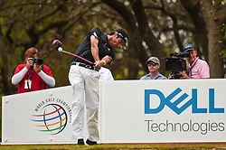 March 25, 2018 - Austin, TX, U.S. - AUSTIN, TX - MARCH 25: Bubba Watson tees off at the 12th hole during the semifinals match of the WGC-Dell Technologies Match Play on March 25, 2018 at Austin Country Club in Austin, TX. (Photo by Daniel Dunn/Icon Sportswire) (Credit Image: © Daniel Dunn/Icon SMI via ZUMA Press)