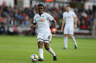 Leroy Fer of Swansea city in action. Premier league match, Swansea city v Newcastle Utd at the Liberty Stadium in Swansea, South Wales on Sunday 10th September 2017.<br /> pic by  Andrew Orchard, Andrew Orchard sports photography.