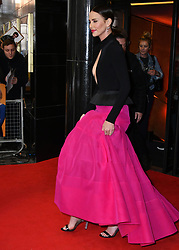 April 25, 2019 - London, London, United Kingdom - Charlize Theron attends premiere of comedy about an unemployed journalist who attempts to pursue his childhood crush and babysitter, who now happens to be one of the most powerful women on earth, at Curzon Mayfair.. Long Shot UK film premiere. (Credit Image: © Nils Jorgensen/i-Images via ZUMA Press)