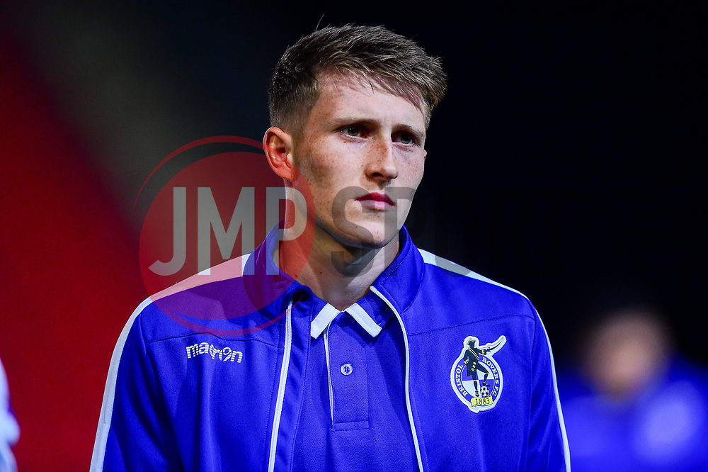 Cameron Hargreaves of Bristol Rovers arrives at St James Park prior to kick off - Mandatory by-line: Ryan Hiscott/JMP - 13/11/2018 - FOOTBALL - St James Park - Exeter, England - Exeter City v Bristol Rovers - Checkatrade Trophy