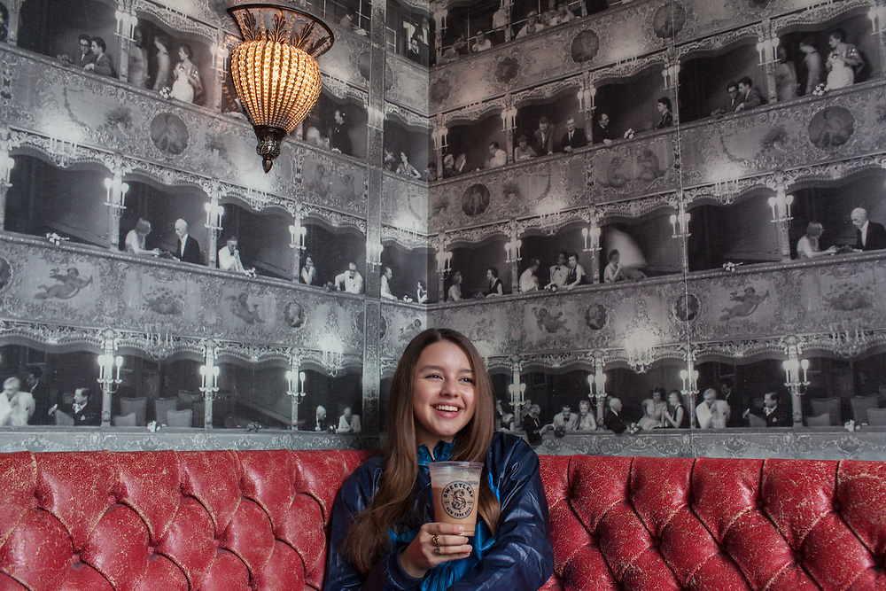 QUEENS, NY - SEPTEMBER 21, 2014: Fatima Ptacek having coffee & breakfast at Sweetleaf in Long Island City, New York. CREDIT: Emon Hassan for The New York Times