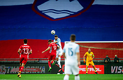 Vitalie Damascan of Moldova vs Miha Mevlja of Slovenia during the UEFA Nations League C Group 3 match between Slovenia and Moldova at Stadion Stozice, on September 6th, 2020. Photo by Vid Ponikvar / Sportida