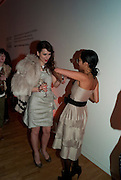 LARA BOHINC; HANNAH BHUIYA, TODÕS Art Plus Drama Party 2011. Whitechapel GalleryÕs annual fundraising party in partnership. Whitechapel Gallery. London. 24 March 2011.  with TODÕS and supported by HarperÕs Bazaar-DO NOT ARCHIVE-© Copyright Photograph by Dafydd Jones. 248 Clapham Rd. London SW9 0PZ. Tel 0207 820 0771. www.dafjones.com.<br /> LARA BOHINC; HANNAH BHUIYA, TOD'S Art Plus Drama Party 2011. Whitechapel Gallery's annual fundraising party in partnership. Whitechapel Gallery. London. 24 March 2011.  with TOD'S and supported by Harper's Bazaar-DO NOT ARCHIVE-© Copyright Photograph by Dafydd Jones. 248 Clapham Rd. London SW9 0PZ. Tel 0207 820 0771. www.dafjones.com.