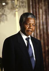 June 25, 1990 - Washington, District of Columbia, U.S. - Former South African President NELSON MANDELA at the State Department.  (Credit Image: © Pamela Price/ZUMAPRESS.com)