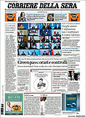 October 13, 2021 - EUR: Front-page: Today's Newspapers In Europe