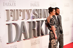Dakota Johnson and Jamie Dornan arriving for the Fifty Shader Darker European Premiere held at Odeon Leicester Square, London.