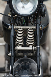 Sante Mazza's (Rimini, Italy) 1926 Moto Frera during Stage 7 of the Motorcycle Cannonball Cross-Country Endurance Run, which on this day ran from Sedalia, MO to Junction City, KS., USA. Thursday, September 11, 2014.  Photography ©2014 Michael Lichter.