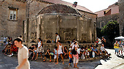 Made in 1438, Big Onofrio's Fountain - source of water to Dubrovnik, but damaged in  17th century earthquake