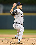 CHICAGO - SEPTEMBER 27:  Matt Hall #64 of the Detroit Tigers pitches against the Chicago White Sox on September 27, 2019 at Guaranteed Rate Field in Chicago, Illinois.  (Photo by Ron Vesely)  Subject:   Matt Hall