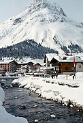 Ski resort town of Lech in the Austrian Alps, Austria