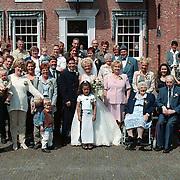 Huwelijk Ricardo van der Laan en Simone, familiefoto