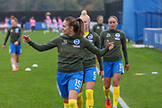Brighton & Hove Albion forward Kayleigh Green (15) warms up during the FA Women's Super League match between Everton Women and Brighton and Hove Albion Women at the Select Security Stadium, Halton, United Kingdom on 18 October 2020.