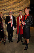 Clarissa Pilkington, Anto Laurent, Rupert Tyler and Charles Rutherford. Blood Wedding Post - performance party. Count Christophe Gollut's annual fundraising Gala for the Almeida. Islington. London. 17 May 2005. ONE TIME USE ONLY - DO NOT ARCHIVE  © Copyright Photograph by Dafydd Jones 66 Stockwell Park Rd. London SW9 0DA Tel 020 7733 0108 www.dafjones.com