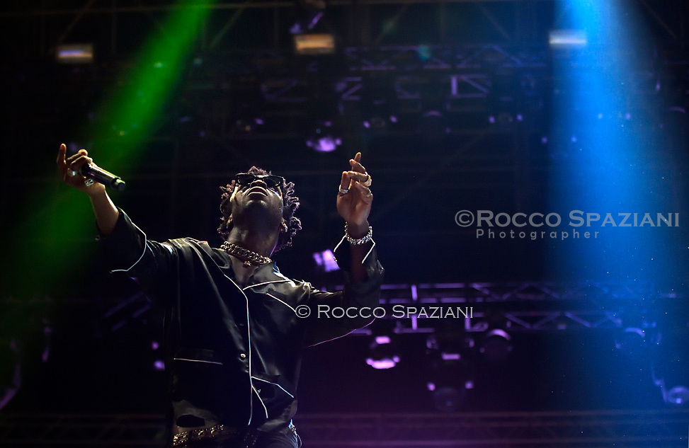 Saint JHN performing live on stage in Rome at Rock in Roma festival in  Rome, Italy on 11 July 2018.