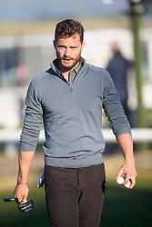 Jamie Dornan. Alfred Dunhill Links Championship this morning at St Andrews.