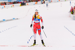 February 21, 2019 - Seefeld In Tirol, AUSTRIA - 190221 Kristine StavÅ's Skistad of Norway looks dejected after competing in womenÃ•s cross-country skiing sprint semi final during the FIS Nordic World Ski Championships on February 21, 2019 in Seefeld in Tirol..Photo: Vegard Wivestad GrÂ¿tt / BILDBYRN / kod VG / 170285 (Credit Image: © Vegard Wivestad Gr¯Tt/Bildbyran via ZUMA Press)