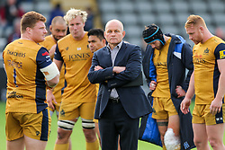 Bristol Rugby Director of Rugby Andy Robinson looks frustrated after his side lose 19-14 - Rogan Thomson/JMP - 08/10/2016 - RUGBY UNION - Kingston Park - Newcastle, England - Newcastle Falcons v Bristol Rugby - Aviva Premiership.