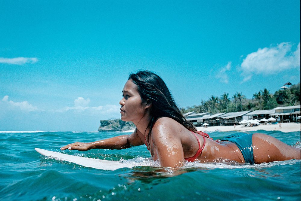Bali Surfer at Balangan Beach. Bali, Indonesia