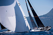 Proteus and Cannonball sailing in the  Corfu Challenge, day one.