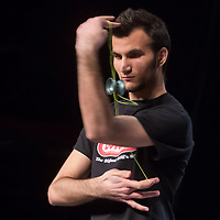 Former European and world champion Janos Karancz of Hungary competes during the Yoyo European Championships in Budapest, Hungary on February 23, 2014. ATTILA VOLGYI