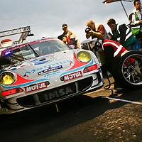 #76 Porsche 997 GT3 RSR, IMSA Performance Matmut (drivers:  Raymond Narac, Richard Lietz, Patrick Long) at Spa 24H on 3 August 2008