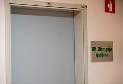 Office Doors of NK Olimpija Ljubljana, on January 12, 2021 in Dunajska 159, Ljubljana, Slovenia. Photo by Vid Ponikvar / Sportida