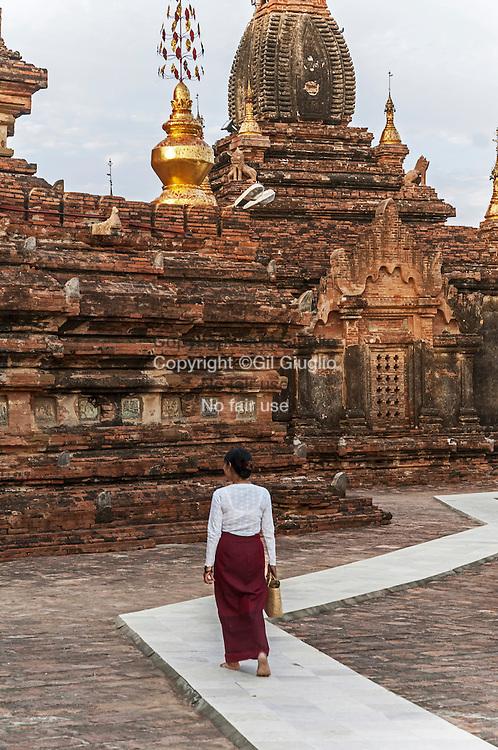 Myanmar, Bagan, pagode Swhezigon// Myanmar, Bagan, Swezigon pagoda