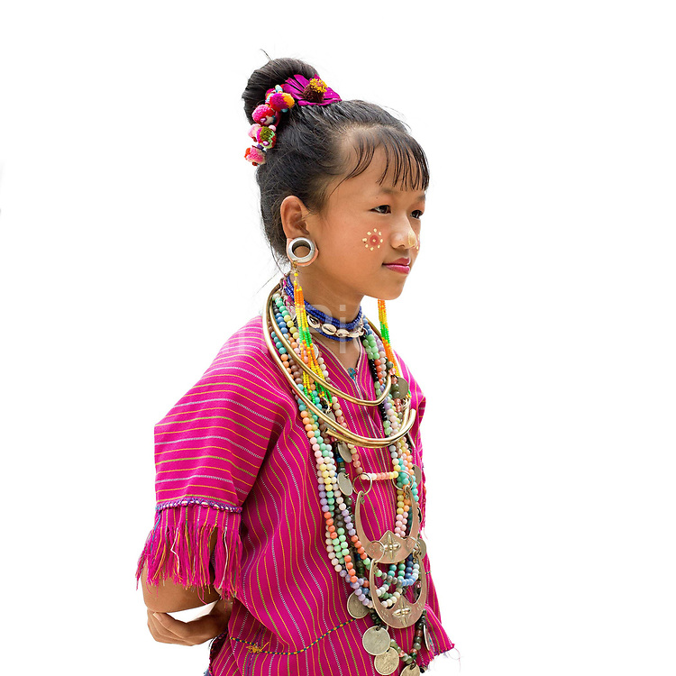 Elizabeth 12, an ethnic Kayaw girl from Myanmar at Baan Tong Luang, Eco-Agricultural Hill Tribes Village on 7th June 2016 in Chiang Mai province, Thailand. The fabricated village is home to 8 different hill tribes who make a living from selling their handicrafts and having their photos taken by tourists  girl at Baan Tong Luang, Eco-Agricultural Hill Tribes Village on 7th June 2016 in Chiang Mai province, Thailand. The fabricated village is home to 8 different hill tribes who make a living from selling their handicrafts and having their photos taken by tourists  at Baan Tong Luang, Eco-Agricultural Hill Tribes Village on 7th June 2016 in Chiang Mai province, Thailand. The fabricated village is home to 8 different hill tribes who make a living from selling their handicrafts and having their photos taken by tourists
