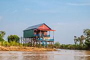The floating village of Kampong Phluk, Cambodia.