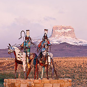 GNP Spring, chief mountain, iron horses, blackfeet reservation art