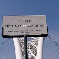 Cerimonia al ponte Settimia Spizzichino