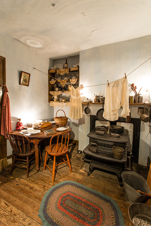 The kitchen in the apartment of the Gumpertz family in The Tenement Museum.