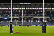 Pitch view before the Guinness Pro 14 2018_19 match between Edinburgh Rugby and Dragons Rugby at Murrayfield Stadium, Edinburgh, Scotland on 15 February 2019.