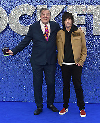 May 20, 2019 - London, United Kingdom - Stephen Fry and Elliott Spencer are seen during the Rocketman UK Premiere at the Odeon Luxe Leicester Square in London. (Credit Image: © James Warren/SOPA Images via ZUMA Wire)