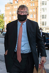 "© Licensed to London News Pictures. 28/09/2020. London, UK. Hedge fund manager Crispin Odey arrives at Westminster Magistrates Court after denying indecently assaulting a woman more than 20 years ago. The Tory donor, 61, was charged on 14 May this year over an alleged incident at an address in Chelsea, west London, in 1998. The Metropolitan police said Odey is alleged to have indecently assaulted ""a woman over 16 years of age"" on or around 13 July 1998 at an address in Swan Walk, Chelsea. The influential financier and founder of Odey Asset Management was a high-profile backer of the Brexit campaign, who donated more than £870,000 to pro-leave groups.  Photo credit: George Cracknell Wright/LNP"
