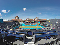 Tennis - 2019 Queen's Club Fever-Tree Championships - Day Six, Saturday<br /> <br /> Men's Singles, Semi Final: Queens Club prepares for Semi Final day under the blue skies<br />  <br /> COLORSPORT/DANIEL BEARHAM