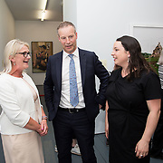 """18.05.2018.          <br /> More than 500 people attended the flagship event of the inaugural Unwrap LSAD Fashion Festival in Limerick.<br /> <br /> Pictured at the event were, Liz Horgan, Bank of Ireland, Liam Dwane, Brown Thomas and Susan Holland, National Design and Craft Gallery Curator.<br /> <br /> The Limerick School of Art & Design, LIT, Fashion Design Graduate Exhibition and launch of the """"The Fashion Film"""" at Limerick City Gallery of Art, in partnership with EVA International, attracted hundreds of people from the world of fashion. <br /> <br /> A total of 27 fashion graduates presented their designs alongside the specially commissioned film by fashion stylist and creative director Kieran Kilgallon and videographer Albert Hooi. Picture: Alan Place"""