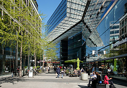 Modern architecture of shopping arcade off Kurfurstendamm,Kudamm , in Berlin Germany